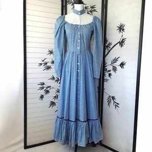 Vintage Blue Little House on the Prairie Dress